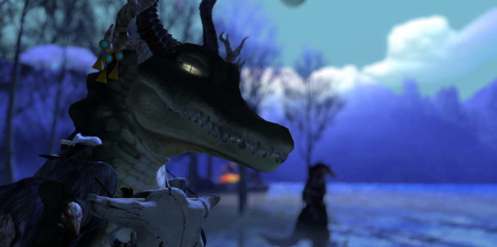 Moonlit Gator