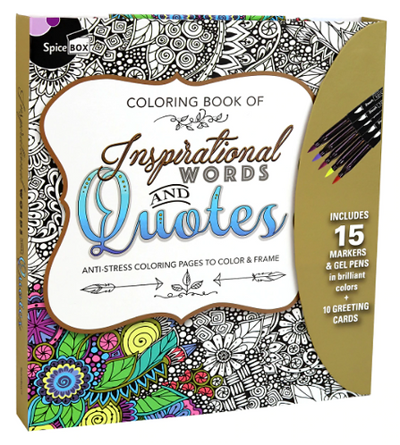 Colouring Book Inspirational Words  -  Spice Box