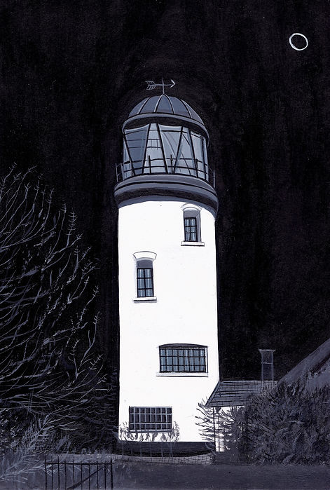 Winterton on sea lighthouse, 17 x 23cm_e