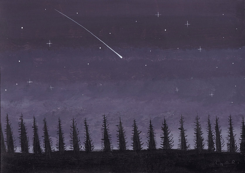 Comet at dusk 21 x 15cm.jpg