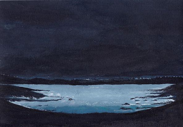 Estuary with distant lights 21 x 15cm 20