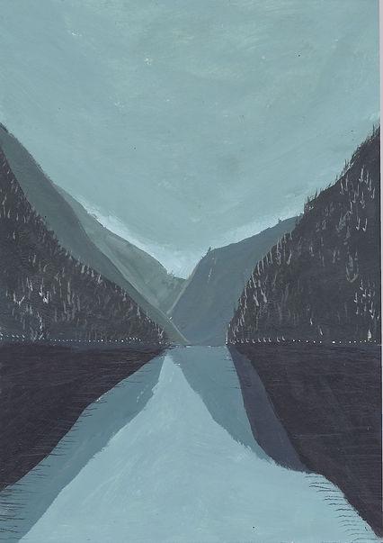 Reflection on a Lake, 15 x 21cm.jpg