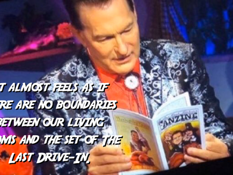 The Joe Bob Briggs Fanzine and artist Tom Denton Appear on The Last Drive-In