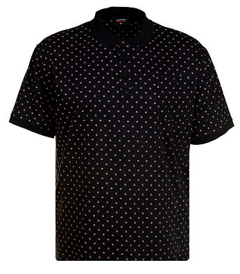 P153 ALL OVER FLORAL PRINT JERSEY POLO N