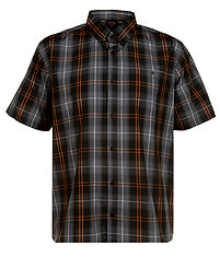 SH303 S S BDC CHECK SHIRT BLACK GREY SL7