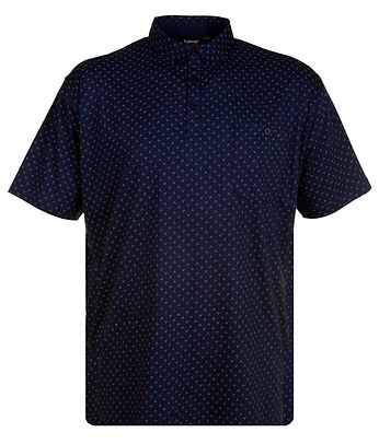 P151 ALL OVER GEOMETRIC PRINT POLO FRENC