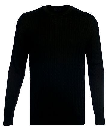 KW057 CABLE CREW NECK JUMPER NAVY SL7A58