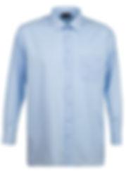 SH151 L S PLAIN COLLAR SHIRT BLUE SL7A58