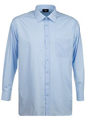 SH151 L S PLAIN COLLAR SHIRT BLUE SL7A58