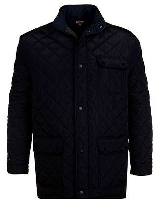 JT109 QUILTED HERITAGE STYLE COAT NAVY S