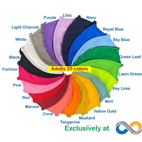 Refill Pack! High Quality ADULTS Washable Colorful 3-Ply Cloth Face Masks