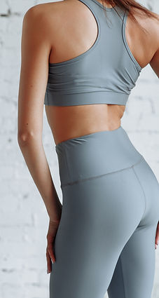 Girl in tight clothes yoga and fitness c