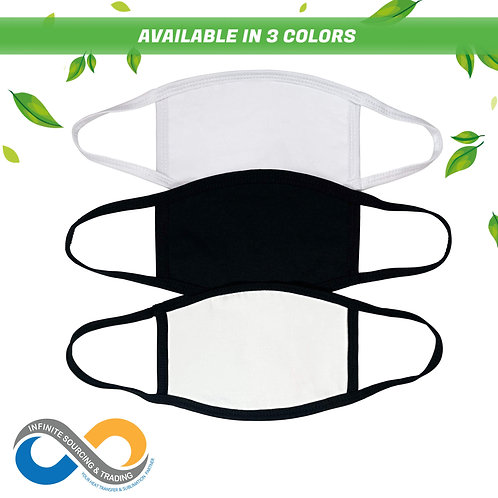 Flat & Smooth! Adults 3-Ply 100% Polyester Cloth Face Mask
