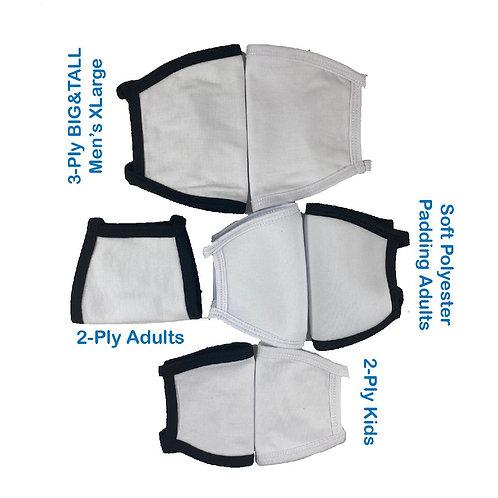$2.95ea-35pcs Washable & Reusable Polyester Face Masks-Family Pack