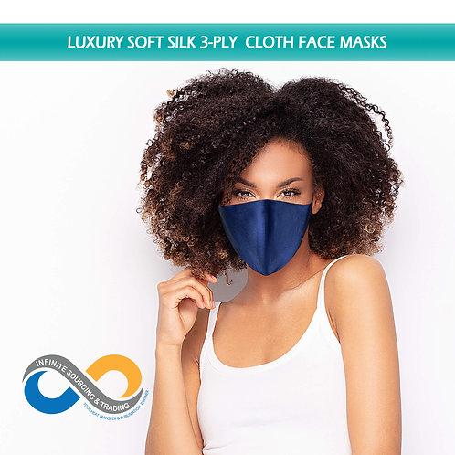 Luxury Soft Silk 3-Ply Cloth Face Mask