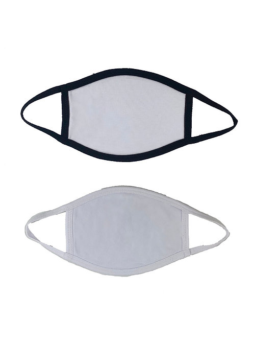 Flat & Smooth! 2 layers Front-Polyester/Back-Soft Cotton Cloth Face Masks