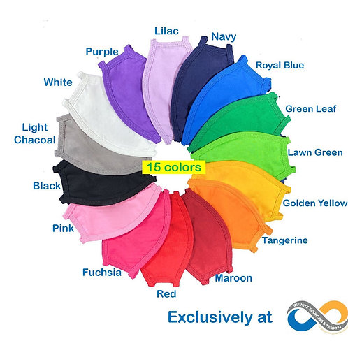 Back to School! High Quality Colorful 3-Ply Cotton Face Masks
