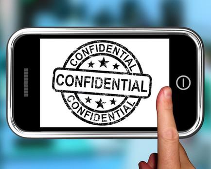 Mise en garde concernant la confidentialité de l'information et le destinataire du courriel