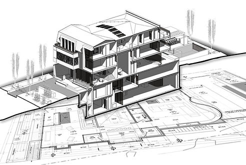 3D Section of Joyous residence located in Forest hill, Toronto