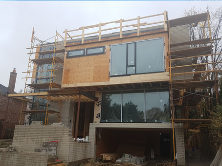 Apsley Project, Exterior is just started!
