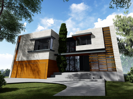 Orlon Residence; Front Elevation Alternatives