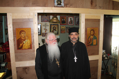 Fr. John Townsend from the St. Mary of Egypt Russian Orthodox Church with Fr. Isaac Atalla