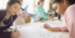 Children enjoying arts and crafts