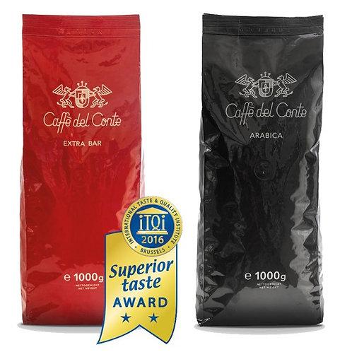 Cafegenuss Paket 1/ 1kg Bar Mix+1kg Arabica Bohnen