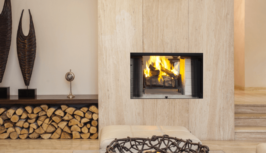 Superior wood burning fireplace picture showing wood burning safety