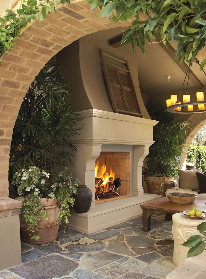 Superior wood outdoor fireplace WRE6000