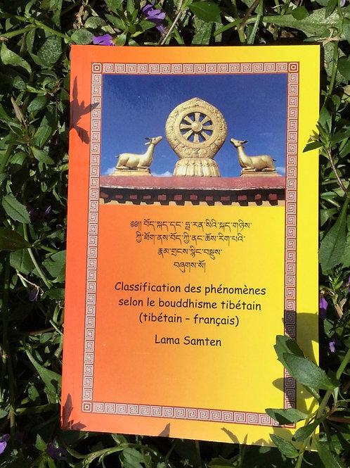 Classification des phénomènes selon le bouddhisme tibétain (tibétain -français )
