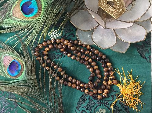 Mala bouddhiste «oeil de tigre»