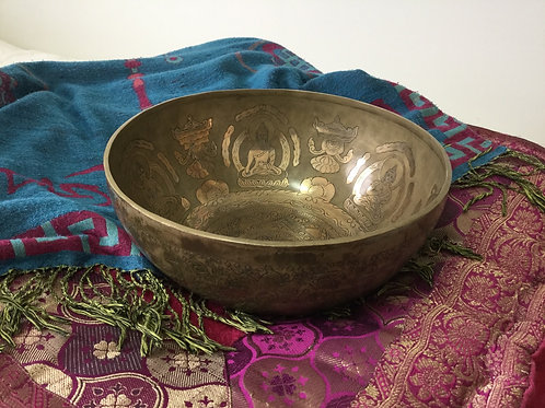 Bengalese traditionnal singing bowl 27,5 cm