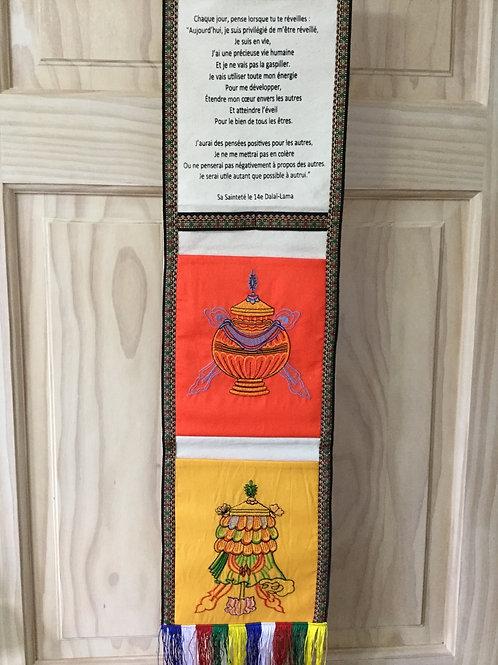 Bannière à pochettes(2) jaune et orange avec message