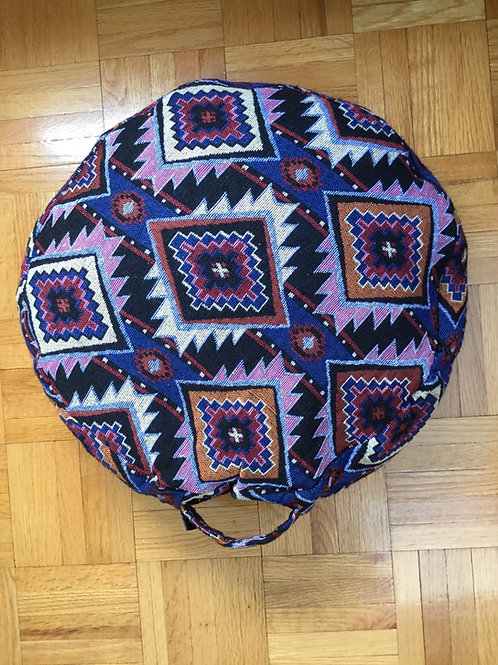 Meditation cushion handmade in Tibet violet, pink
