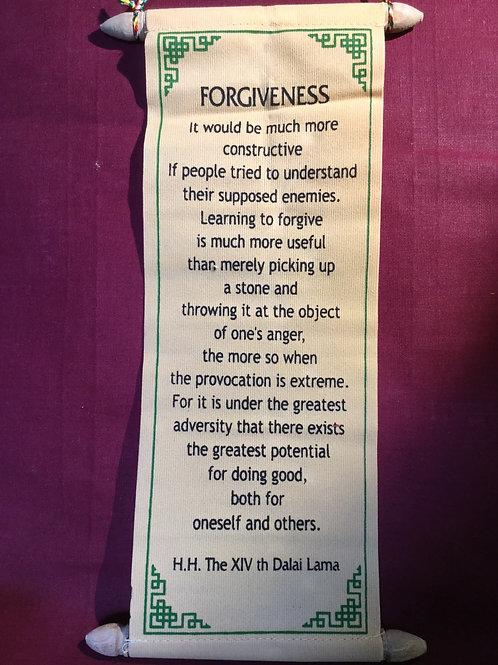 Forgiveness banner from H.H. The XIVth Dalaï-Lama