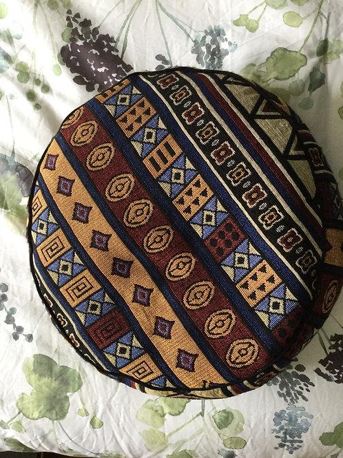 Meditation cushion handmade in Tibet orange, red
