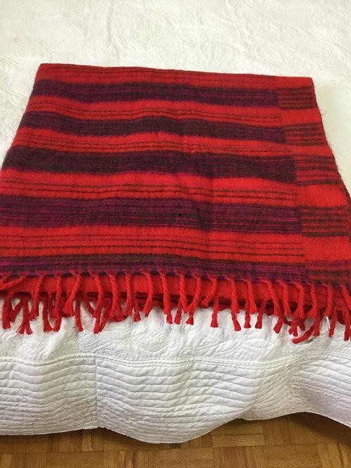 Châle de simili laine de yak léger rouge et plus
