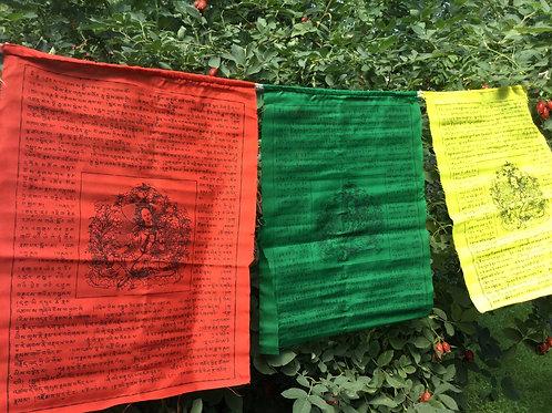 Prayer flags with Buddha Tara (large)