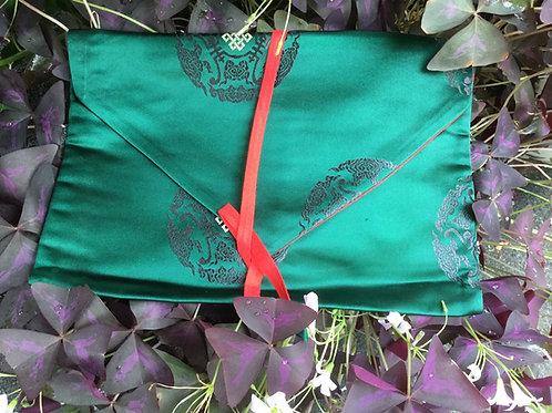 Book case (green satin fabric)
