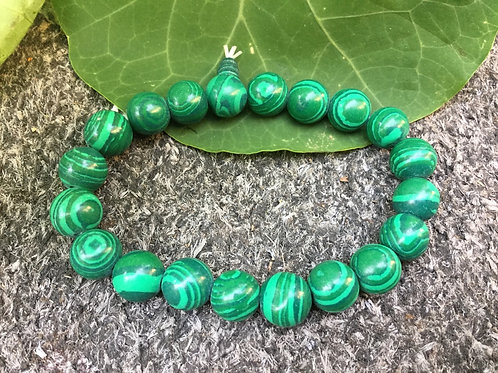 Bracelet de perles de malachite