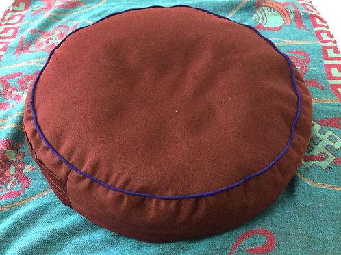 Meditation cushion handmade in Tibet dark red