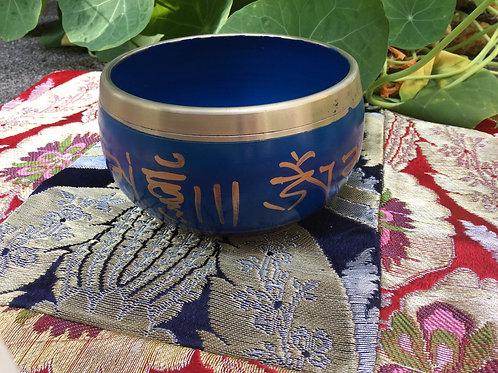 Bol chantant bleu 10 cm