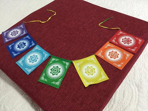 Mini-drapeaux Ohm au couleur de l'arc-en-ciel en coton