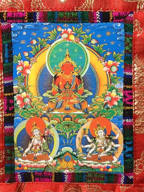 Mini thangka of Buddha Amitayus