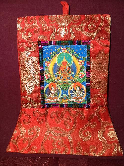 Mini thangka du Bouddha Amitayus