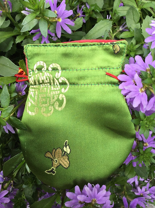 Pochette à mala vert printemps