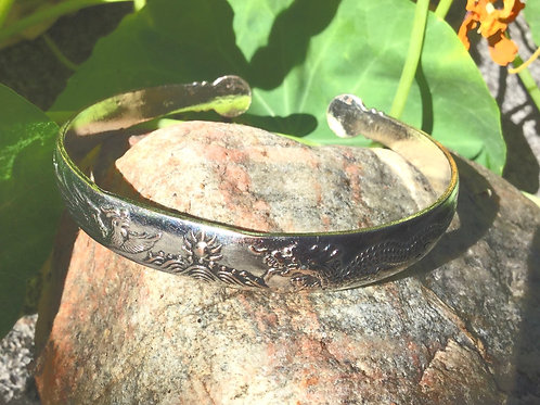 Bracelet ajustable en métal Phoenix et Dragon