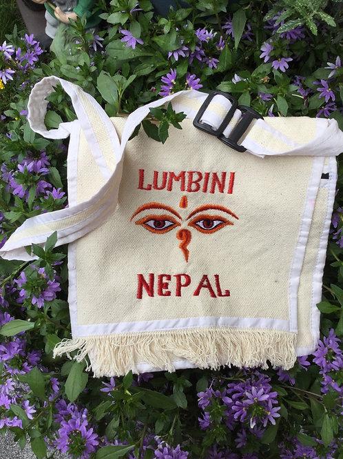 Sac de coton Lumbini blanc et rouge