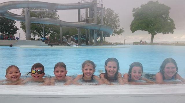 Das sind sie von links: Mattia Gossner, Janis Holzinger, Loris Gossner, Svenja Holzinger, Rahel Inauen, Leonie Dörig und Mirjam Rechsteiner